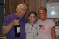 Gil, granddaughter Madison, and Kelly