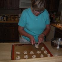 baking chocolate chip cookies
