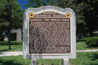 Historic Marker at a rest area along I-70