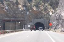 we drove through a lot of mountain tunnels