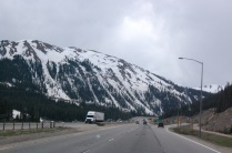 We drove by lots of snow