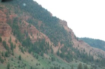 sections of red rock...