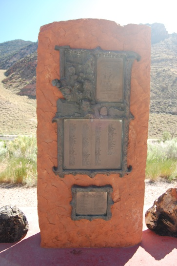 Memorial to 172 miners who died in the 1924 Castle Gate Mine # 2 explosions