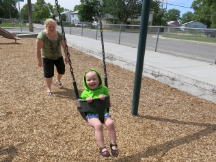 Swinging... Eliza's favorite past time