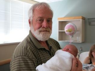 Grandpa John holding Hazel