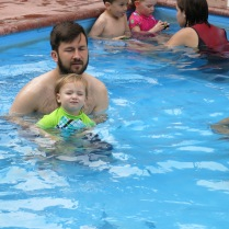 Kevin and Eliza at swim lessons