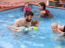 Kevin with Eliza at swim lessons
