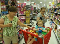 shopping trip to Target toy department