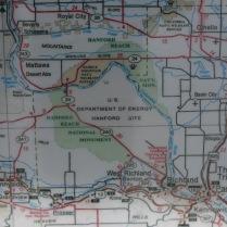 map of Southeastern corner of Washington state