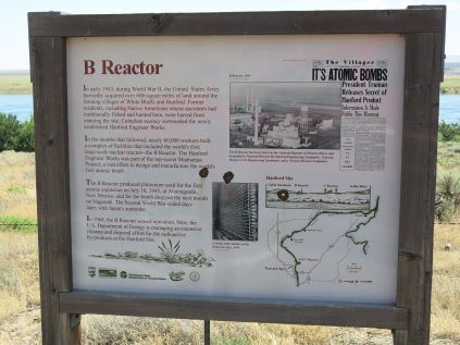 sign with info about the B Reactor at Hanford Reach