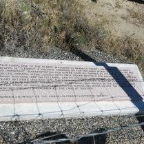 marker at cabin