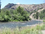 river along White Pass Scenic Byway