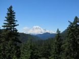Mount Rainier, seen from a scenic turnout