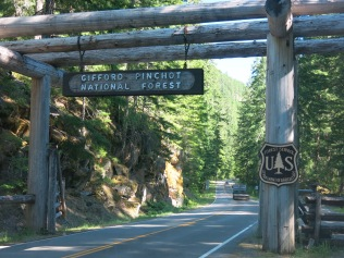entrance to Gifford Pinchot National Forest