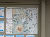 Map of Mount St Helens Natonal Volcanic Monument