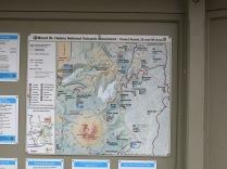 Map of Mount St Helens Natonal Volcanic Monument