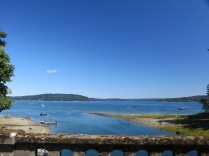 view of Hood Canal, driving along US Hwy 101 N to Port Angeles, WA