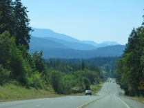 starting to see some mountains as we near Olympic NP
