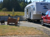 last campsite at Port Angeles/Sequim, WA KOA -- far more deluxe than we needed!