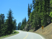 driving to Hurricane Ridge, Olympic National Park