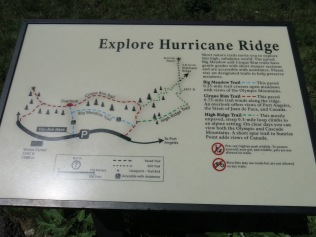 hiking trails at Hurricane Ridge