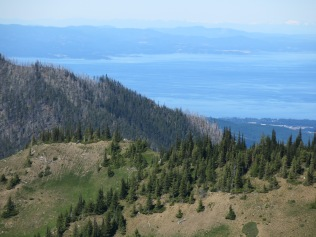 view of Strait of Juan de Fuca from Hurricane Ridge, Olympic National Park
