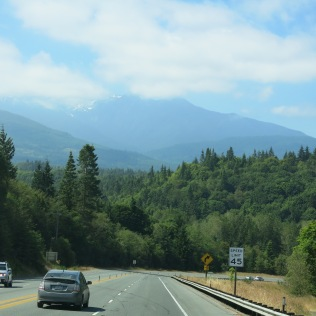 Driving Hwy 101 W to the Elwha River Valley