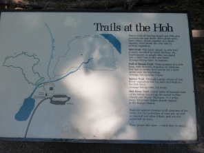 Hoh trails map and descriptions