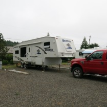 our campsite at Forks 101 RV Park, Forks, WA