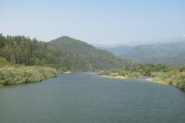 a view up the Klamath River