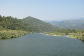 a view up the Klamath River