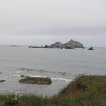 far off Castle Rock - we could hear barking seals