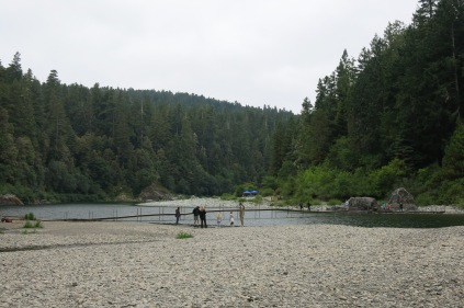 foot bridge across the Smith River