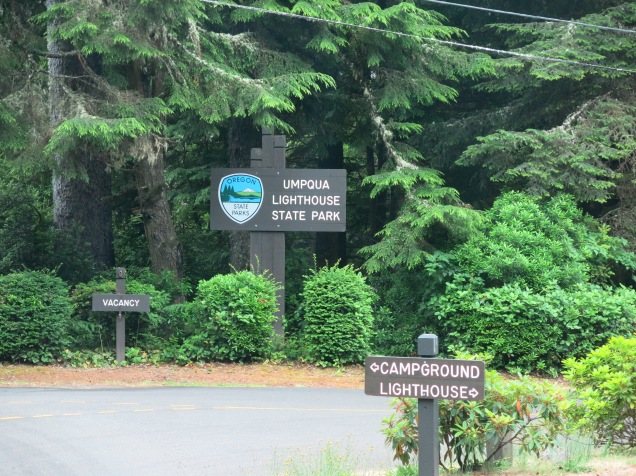 entrance to Umpqua Lighthouse State Park