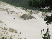 people walking on the dunes...