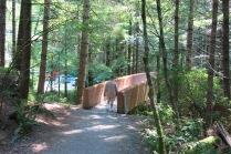 Bridge back to parking lot