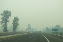 smoke started appearing 40 miles from Grants Pass