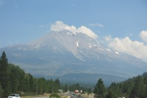 the back side of Mt Shasta didn't have as much snow...