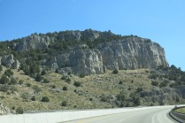 more interesting scenery along the interstate... pinon trees on both sides for a short stretch
