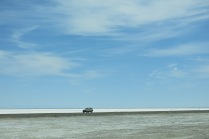 Bonneville Salt Flats... and it continues for miles.