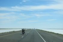 Bonneville Salt Flats... field after field of white salt