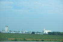 Not sure what goes on here, but we saw a lot of these businesses (grain elevators perhaps?)