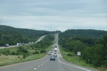 the view from I-70 E in Missouri