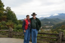 10-19-13 Holly and John at pullout on Foothills Parkway