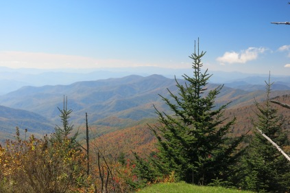 10-21-13 view from Clingmans Dome trail