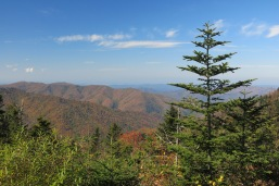 10-21-13 view from pullout on Clingmans Dome Road