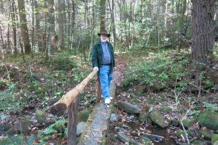 10-22-13 AJ on Cosby Nature Trail footbridge