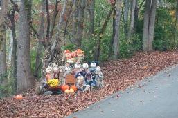 10-22-13 Halloween display on Hwy 32, NC (between Cosby and Big Creek)