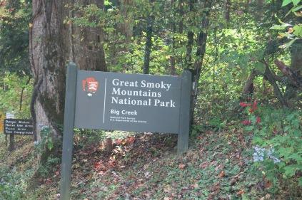 Big Creek Park sign
