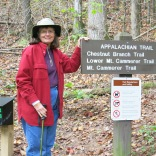 10-22-13 Holly at Appalachian Trail sign
